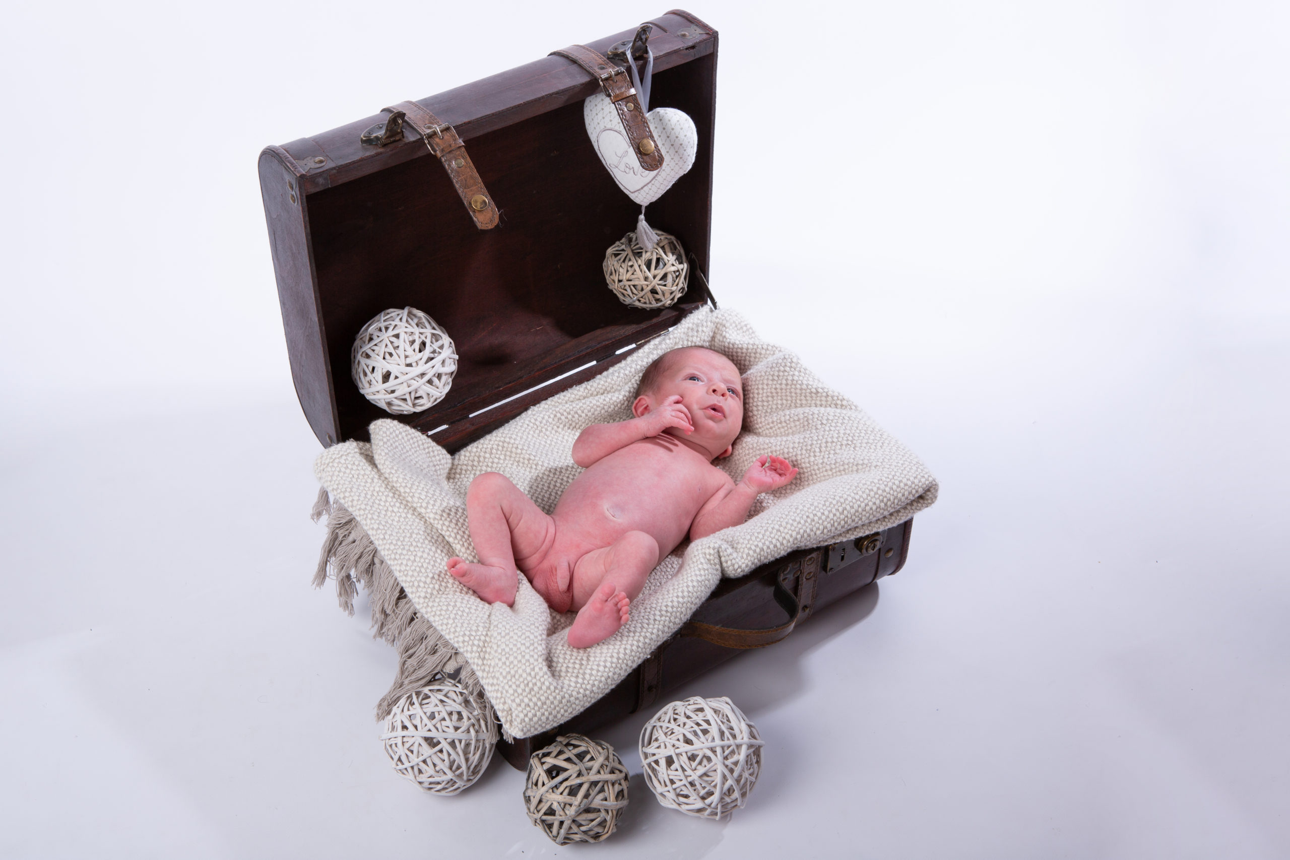 portrait bebe malle
